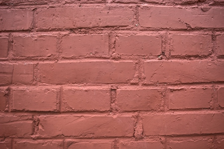 old brick wall: Outside the old brick wall painted red.