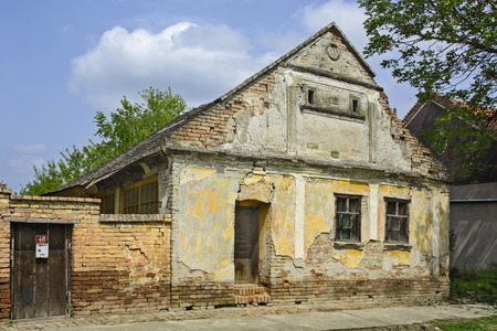 Old abandoned farmhouse built in before last century.