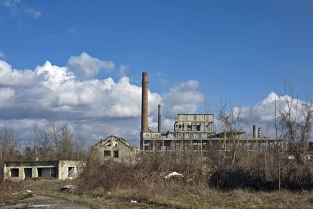 Devastated viscose factory in Serbia in the town of Loznica. Once a leader and a powerful factory, the collapse of Yugoslavia completely collapsed.