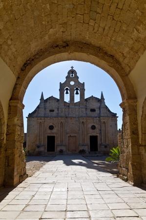 arkady: Arkadi orthodox christian monastery at the island of Crete Stock Photo