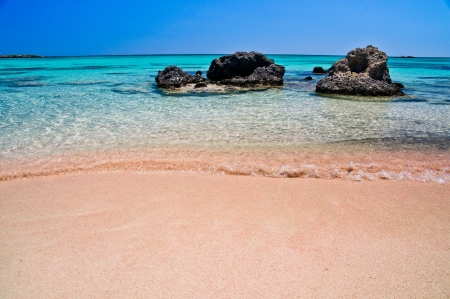 Elafonisi  Island of Deer  is like paradise on earth, and possessess a wonderful beach with pink coral sand and crystalline waters
