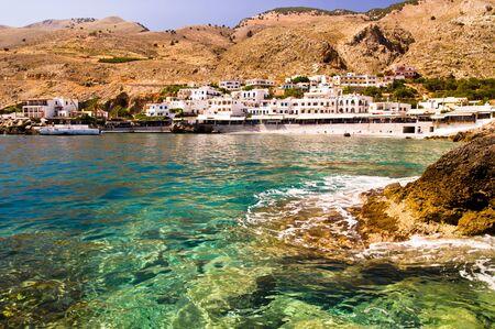 Small coastal village near Chora Sfakion, , south-west of Crete