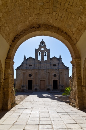 arkady: Beautifull and peacefull morning at famous orthodox christian Arkadi monastery at the island of Crete