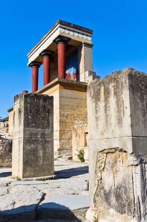 Ruins of north section and north entrance to Knossos palace