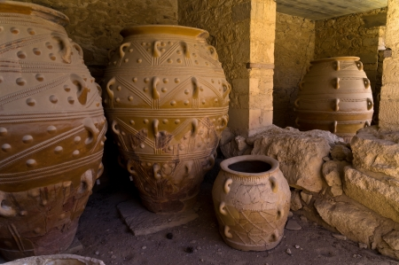 minoan: The magazines for food and wine for the minoan royal court at the palace of Knossos