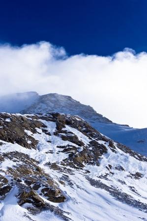 Mountain peak very close to the top of Kaprun glacier Stock Photo - 18699875
