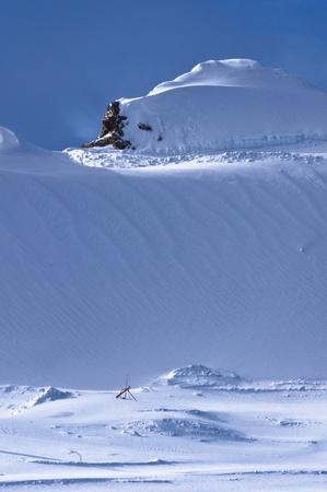 Snow dunes near the top of Kaprun glacier Stock Photo - 18699869