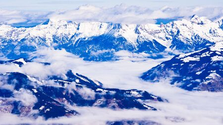 Panorama from the top of Kaprun glacier at sunny winter morning Stock Photo - 18696099