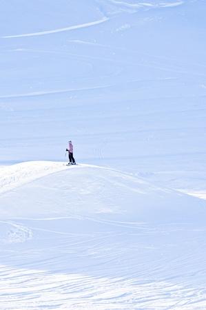 Vast whiteness near the top of Kaprun glacier Stock Photo - 18752214