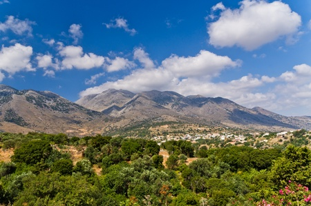 Mountain landscape at the central part of Crete island photo