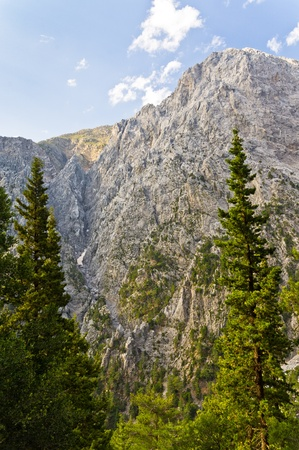 Peaks of Samaria gorge, central part of Crete island photo
