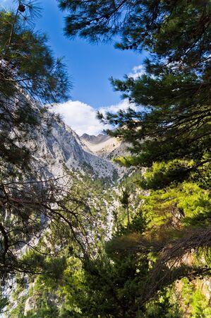 passageway: Mountain adventure thru Samaria gorge passageway Stock Photo