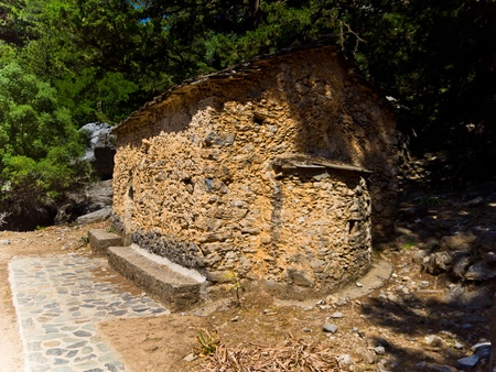 Saint Nicholas chapel on half way thru Samaria gorge photo