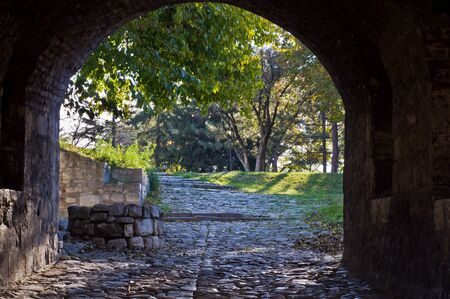 Entrance to the park from a Kalemegdan fortress gate photo