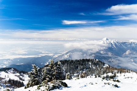 karavanke: Beautifull landscape of the south side of the Alps, mount Krvavec, Slovenia