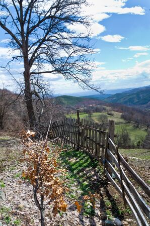 Hills in early spring, Valjevo mountains, Serbia photo