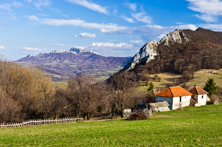 serbia landscape: Homolje mountains in early spring,  east Serbia Stock Photo