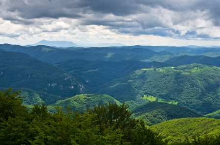 A View From The Top Of Beljanica Mountain In East Serbia Stock Photo