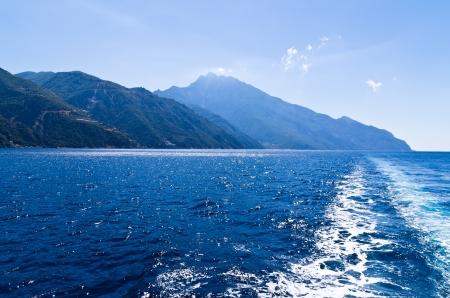 Greek coast near holy  mountain Athos, Chalkidiki, Greece