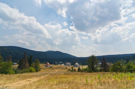 hill of tara: Mitrovac plateau at Tara mountain and national park, west Serbia