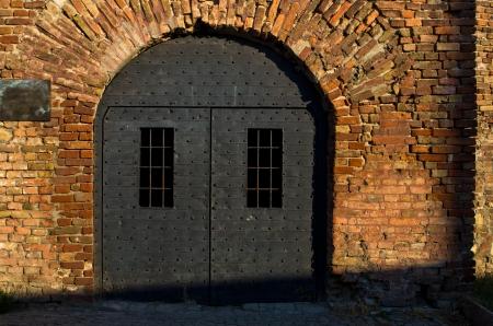 arrestment: Dungeon like doors of the Roman well at Kalemegdan fortress, Belgrade, Serbia