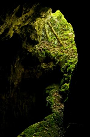 palaeolithic: Cave entrance at Semenic national park, west Romania