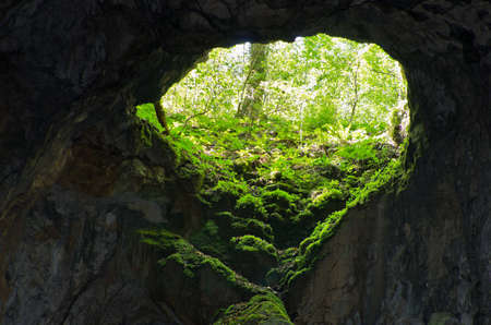 palaeolithic: Cave entrance at Semenic national park, west Romania