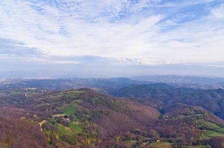 serbia landscape: Homolje mountains landscape on a sunny autumn day, east Serbia