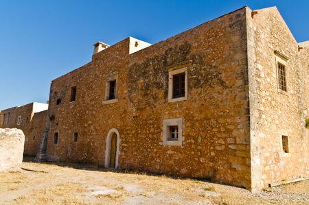 arkady: External walls of Arcady monastery, island of Crete, Greece