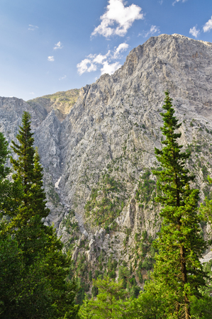 Peaks of Samaria gorge, central part of Crete island, Greece photo