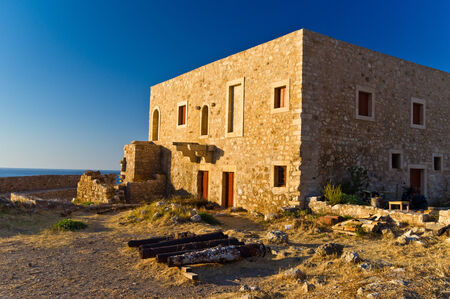 fortezza: Inside Fortezza, old venetian fortress, Rethymno, island of Crete, Greece Editorial