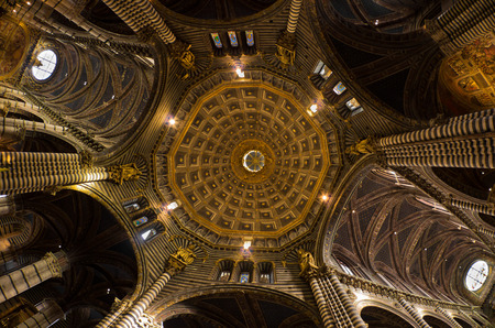 Marvelous dome of Siena cathedral masterpiece of italian renaissance art