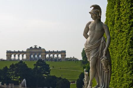 gloriette: Beautiful marble sculpture detail at Schenbrunn park and palace in Vienna, Austria Editorial