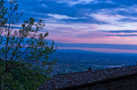 Montecatini Alto near Florence is a good viewpoint toward west Tuscany, Italy photo