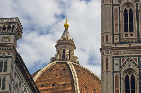 medici: External details of Santa Maria del Fiore cathedral in Florence in Tuscany, Italy
