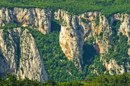 inaccessible: Lazars gorge, one of the most wild, dangerous and inaccessible places in Serbia Stock Photo