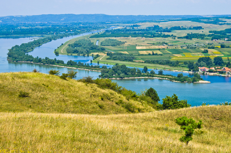 danubian: Panorama and landscape near Danube river in Serbia
