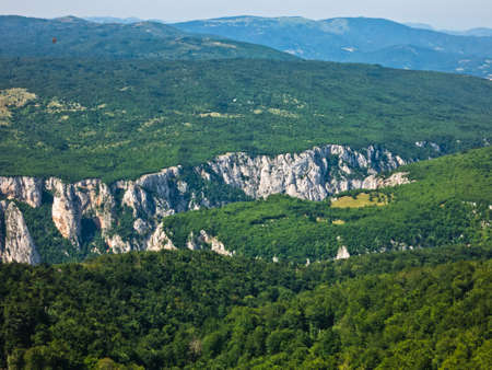 inaccessible: Lazar gorge, one of the most wild, dangerous and inaccessible places in Serbia