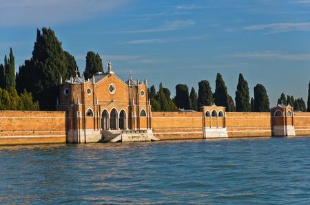 or san michele: Venice cemetary at saint Michael island or Isola di San Michele, Italy