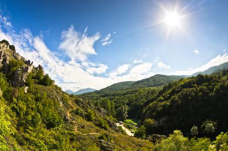 serbia landscape: Landscape of Jelasnica gorge at sunny autumn afternoon, east Serbia