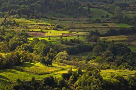 serbia landscape: Landscape of Jelasnica gorge plateau at sunny autumn afternoon, east Serbia Stock Photo
