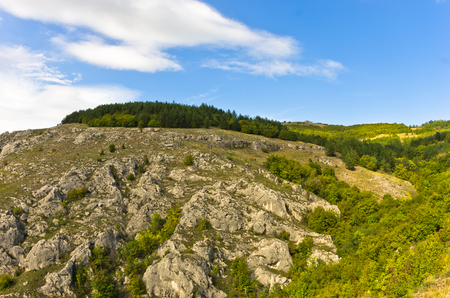 serbia landscape: Landscape of Jelasnica gorge plateau at sunny autumn afternoon in east Serbia