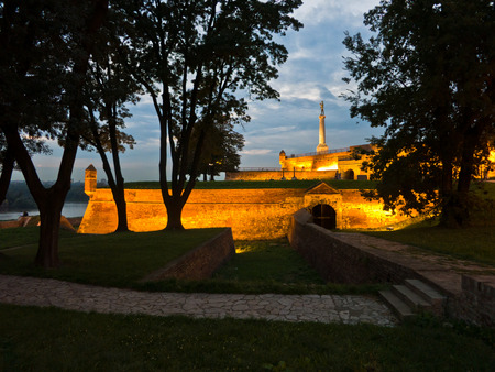 blue hour: Inside Kalemegdan fortress walls at blue hour, Belgrade, Serbia