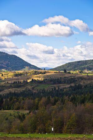 serbia landscape: Radocelo mountain landscape at autumn sunny day, central Serbia