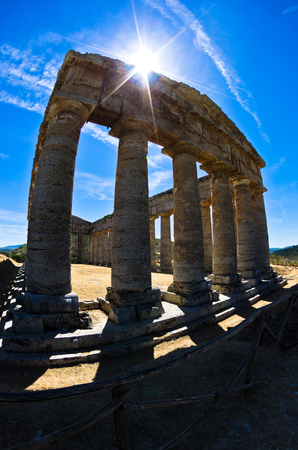 segesta: Old greek temple at Segesta Sicily Italy