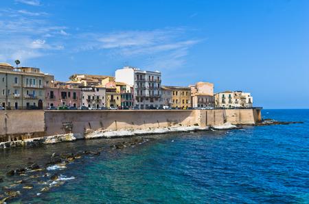 ortigia: Coast of Ortigia island at city of Syracuse Sicily Italy