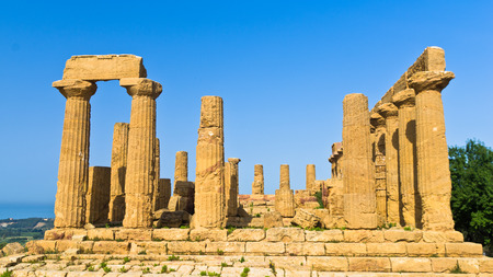 agrigento: Temple of Hera Juno Lacinia at Agrigento Valley of the Temple Sicily Italy