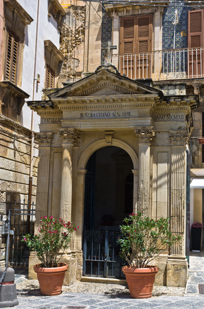 ortigia: Architectural details at streets of Ortigia City of Syracuse Sicily Italy