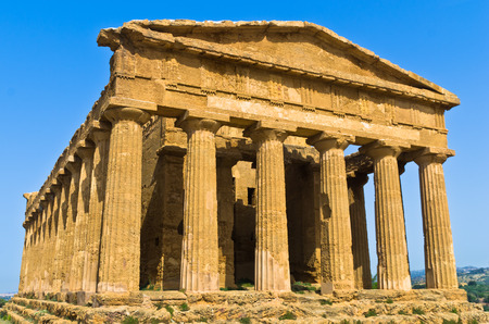 concordia: Temple of Concordia at Agrigento Valley of the Temple Sicily Italy
