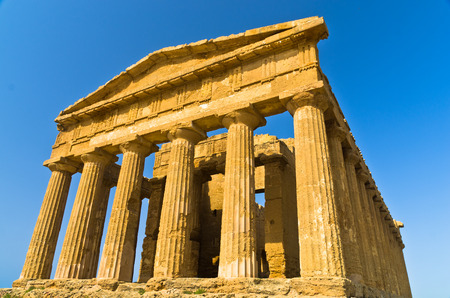 agrigento: Temple of Concordia at Agrigento Valley of the Temple Sicily Italy